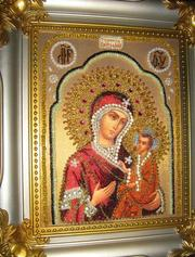 Бисерные иконы Пресвятой Богородицы Тихвинской...