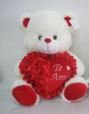 Мягкая игрушка медведь с сердцем 60 см