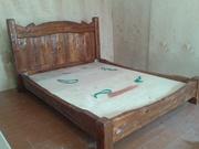 Кровать брашированная из массива дерева. Скидка 20%