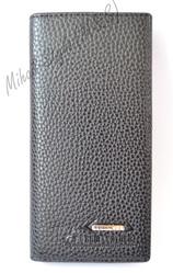 Чёрный мужской кошелёк-визитница F. Gram Leather