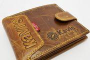 Стильный кожаный мужской кошелёк KAVI'S