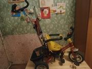 Продаю детский велосипед трёхколёсный с ручкой.