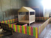 деревянные детские площадки и другие изделия