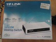 Коммутатор сетевой TP-LINK TL-SF1005D (идеальное состояние)