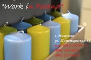 Производство свечей,  работа в Польше