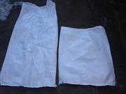 Мешки полипропиленовые на 50 кг и 25 кг,  б/у.